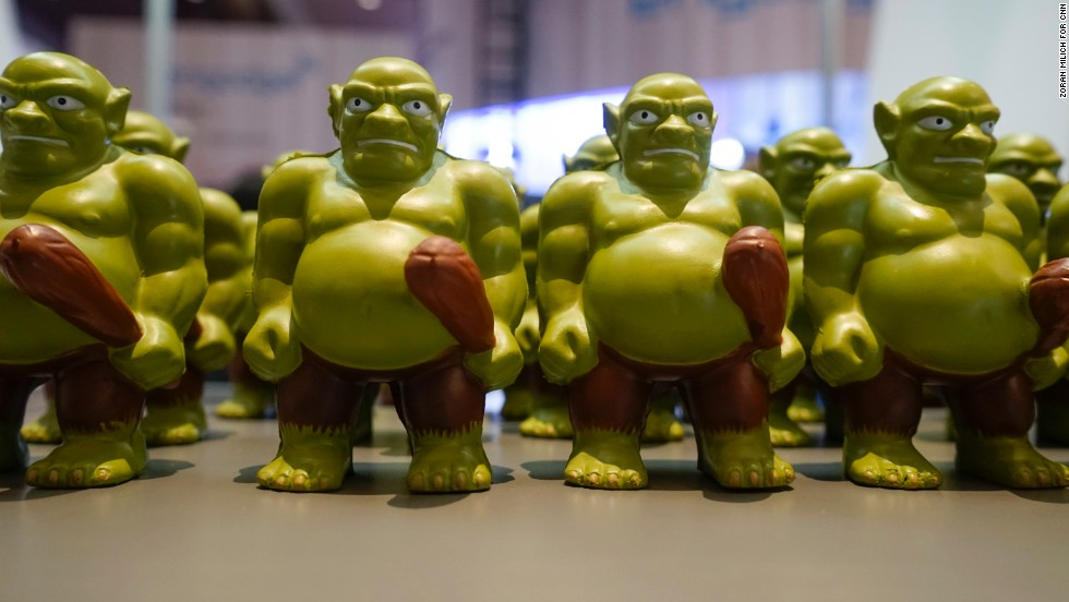 """Patent troll"" figurines are handed out to draw attention to proposed legislation to combat lawsuits brought about by so-called patent trolls, who do not create products but file patent lawsuits against those who do."