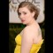 21 golden globes red carpet - Lena Dunham