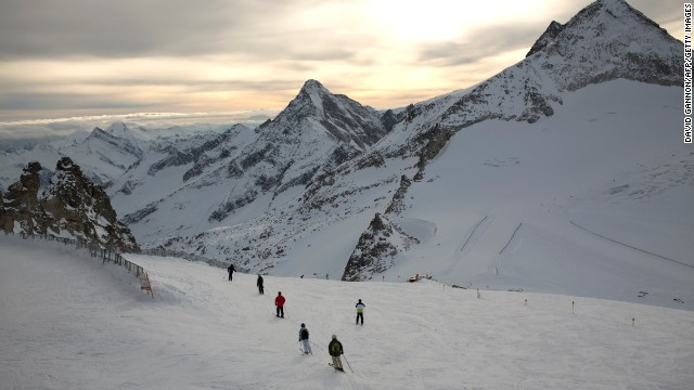 The Hintertux Glacier near Mayrhofen in the Zillertal Valley, Austria.