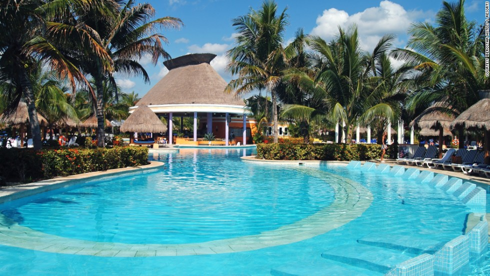 Iberostar Paraiso Beach boasts several elaborate pools, a lazy river and kids play area.