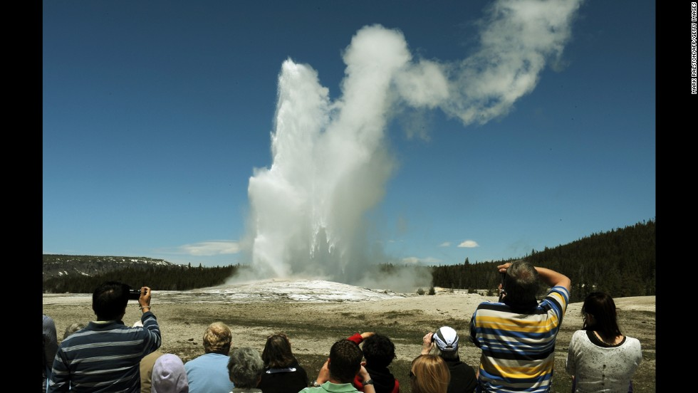 More than 300 geysers can be found throughout Yellowstone National Park's 3,472 square miles, and none is more famous than Old Faithful.