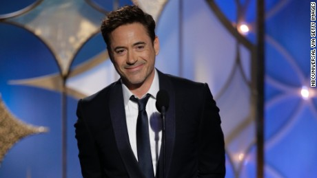 BEVERLY HILLS, CA - JANUARY 12: In this handout photo provided by NBCUniversal, Presenter Robert Downey Jr. speaks onstage during the 71st Annual Golden Globe Award at The Beverly Hilton Hotel on January 12, 2014 in Beverly Hills, California. (Photo by Paul Drinkwater/NBCUniversal via Getty Images)