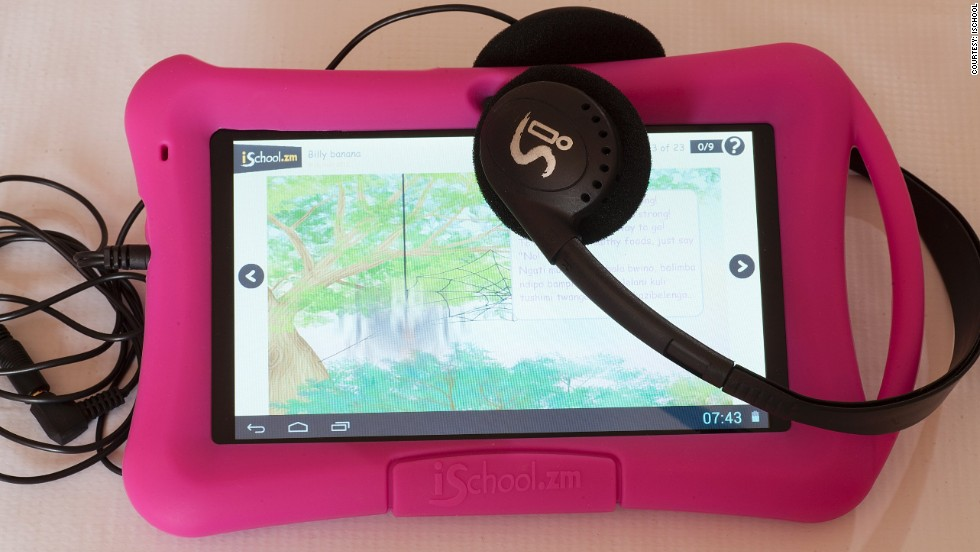 The ZEduPad is an educational tablet tailored to Zambia and designed by inventor Mark Bennett, who has worked in the country for three decades.
