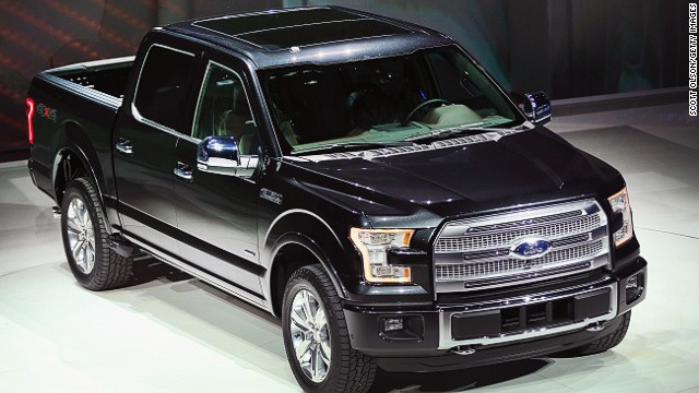 DETROIT, MI - JANUARY 13: Ford introduces the new F-150 pickup truck at the North American International Auto Show on January 13, 2014 in Detroit, Michigan. The auto show opens to the public January 18-26. (Photo by Scott Olson/Getty Images)