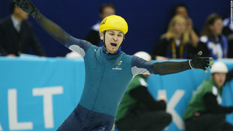 Steven Bradbury claimed gold in the 1,000 meter speed skating event at the 2002 Games after a last corner pile-up saw the rest of the field crash out in dramatic circumstances. Bradbury, who was never in contention for a medal before the incident, came from the back of the field to shock everybody.