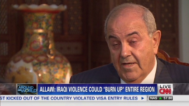 Former PM Allawi talks turmoil in Iraq