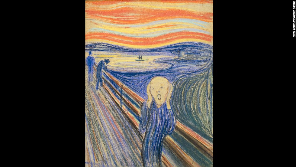 "Munch suffered from anxiety, which he poured into his paintings such as ""The Scream."""
