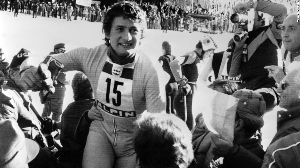 Austria's Franz Klammer will be best remembered for his incredible downhill run at the 1976 games at Innsbruck. In front of his home support, Klammer, the final competitor to take to the course, produced one of the most daring runs ever witnessed to defeat defending champion Bernhard Russi.