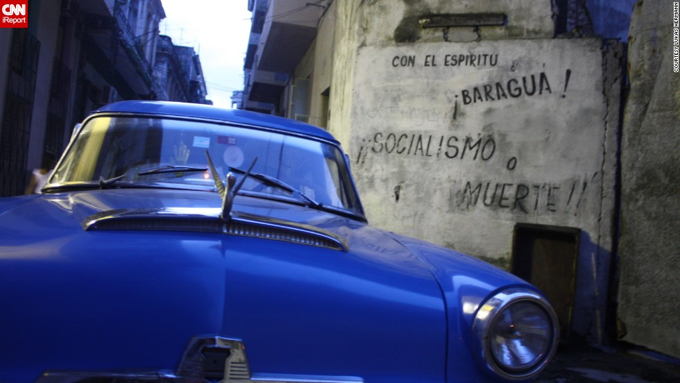 "British tourist <a href=""http://ireport.cnn.com/docs/DOC-1075401"">Lukas Hermann</a> visited Havana in 2013 and got to drive some classics himself. ""It's easy,"" he said. ""You pay the owner to let you drive for a while or you rent the car for hours or a whole day."""