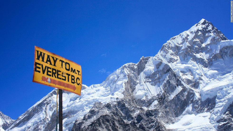 The signpost to the Mount Everest Base Camp doesn't begin to hint at the endurance required for National Geographic's Himalayan trek.