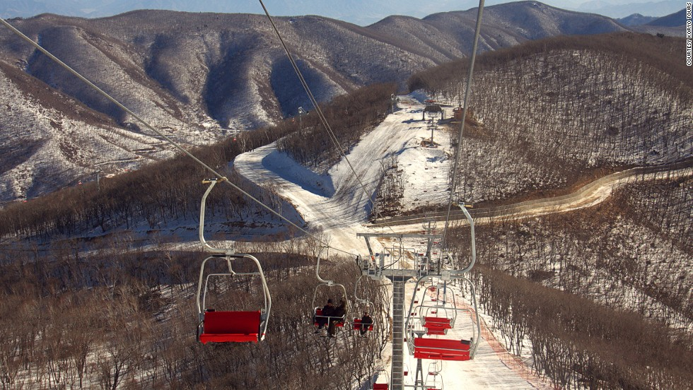 Simon Cockerell of Beijing-based tour company, Koryo Tours, took these images after being invited to the newest ski resort in North Korea.