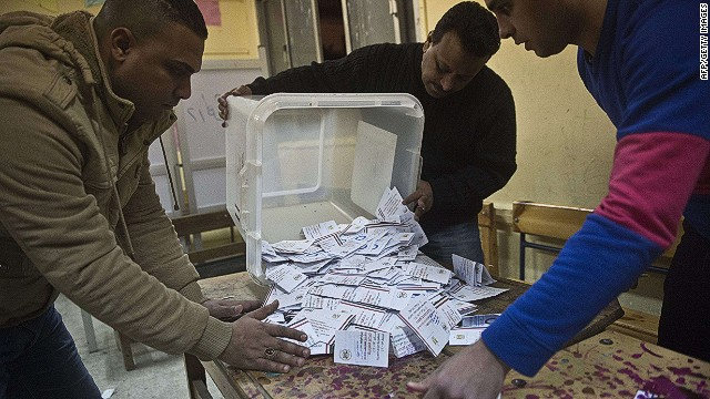 Polls close on referendum vote in Egypt