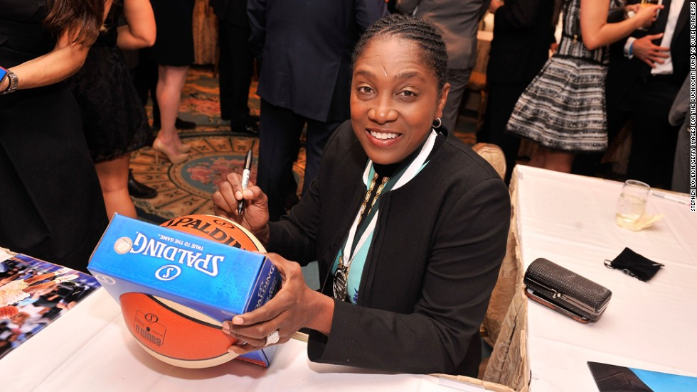 Teresa Edwards is the only American basketball player -- male or female -- to compete in five Olympics, earning four gold medals and one bronze. As a professional basketball player she played for teams in Europe and Asia before returning to the states to play and coach in the American Basketball League and the WNBA. In 2011 she was inducted into the Naismith Memorial Basketball Hall of Fame. Edwards will turn 50 on July 19.