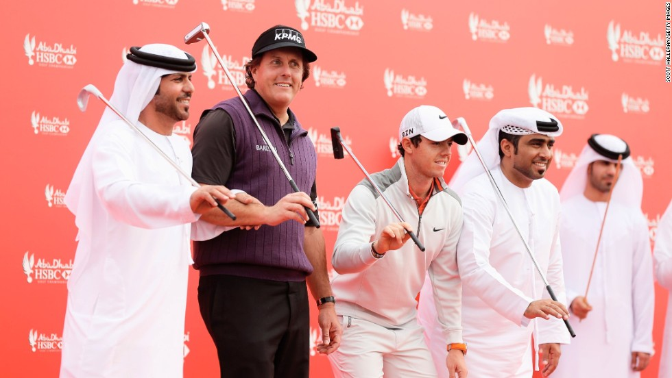 Dancing duo Mickelson and McIlroy are both going into the new golf season hoping to add a major title to their collection.