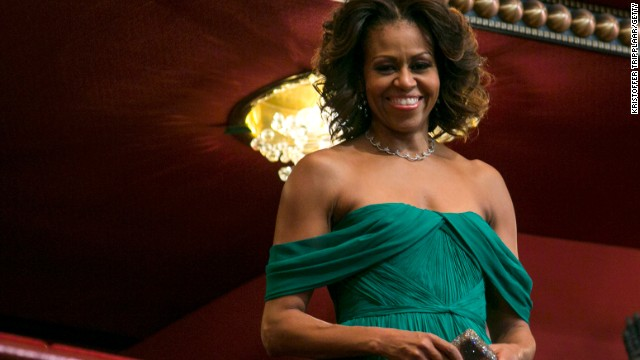 Michelle Obama was born on Jan. 17, 1964, she celebrates her 50th birthday on Friday, Jan. 17, 2014. The first lady is seen here on December 8, 2013 during the Kennedy Center Honors in Washington, D.C.