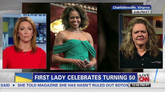 First lady celebrates turning 50
