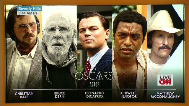 The best actor nominees are ...