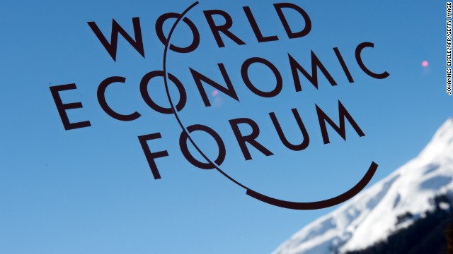 A logo of the World Economic Forum Annual Meeting 2013 is pictured on January 26, 2013 at the Swiss resort of Davos. AFP PHOTO / JOHANNES EISELE (Photo credit should read JOHANNES EISELE/AFP/Getty Images)