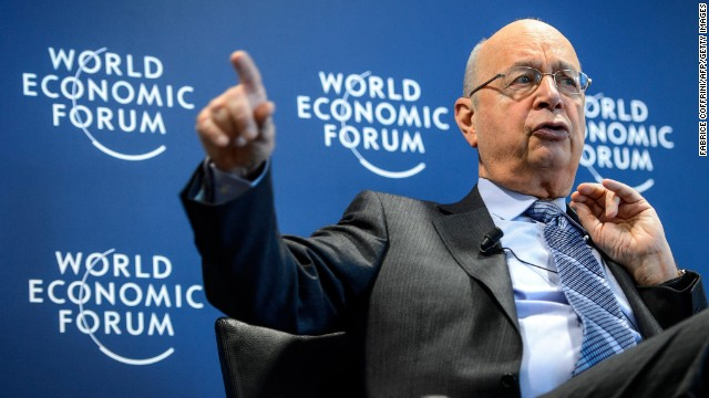 World Economic Forum (WEF) founder and executive chairman Klaus Schwab gestures during a news conference focused World Economic Forum WEF annual meeting at the Forum's headquarters in Cologny, near Geneva, on January 15, 2013. This year's edition of the forum gathering of top politicians and business leaders in the plush Swiss ski resort of Davos, the 44th, is scheduled to take place from January 22 to 25. AFP PHOTO / FABRICE COFFRINI (Photo credit should read FABRICE COFFRINI/AFP/Getty Images)
