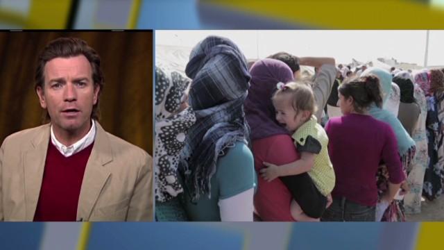 Ewan McGregor on work for Syrian children