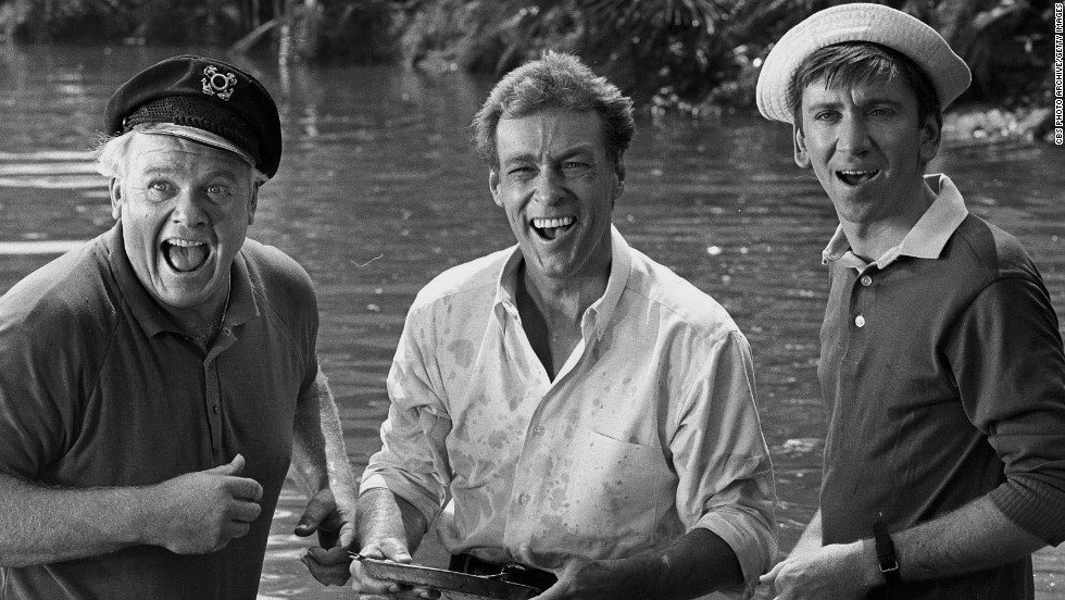 "<a href=""http://www.cnn.com/2014/01/16/showbiz/russell-johnson-obit/index.html"">Russell Johnson</a>, center, stands with Alan Hale Jr., left, and Bob Denver in an episode of ""Gilligan's Island"" in 1966. Johnson, who played ""the professor"" Roy Hinkley in the hit television show, passed away January 16 at his home in Washington state, according to his agent, Mike Eisenstadt. Johnson was 89."
