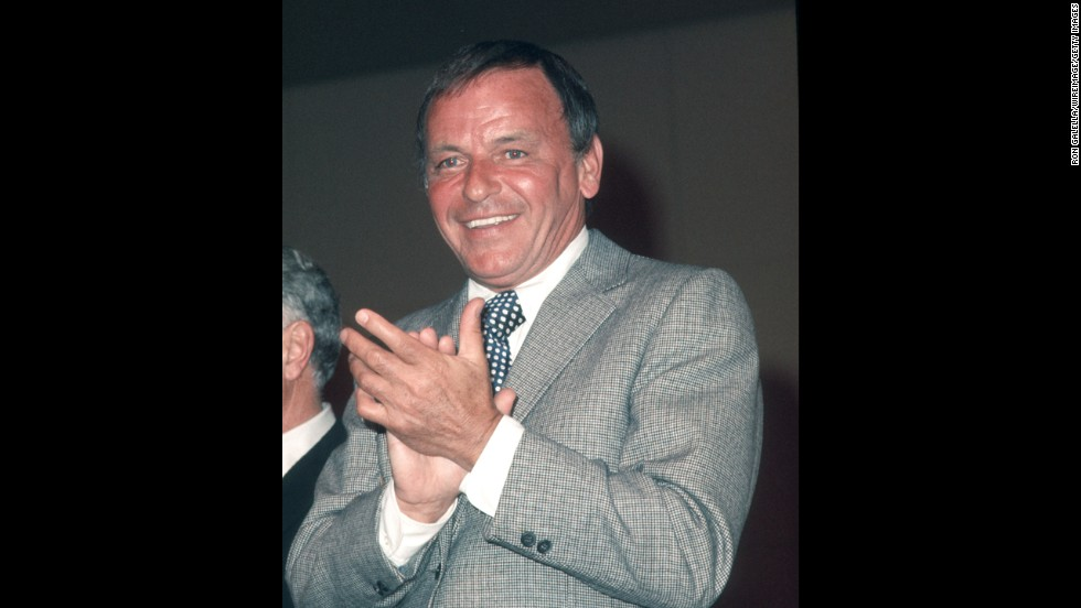 Frank Sinatra (pictured in 1971) received the award for 1972.