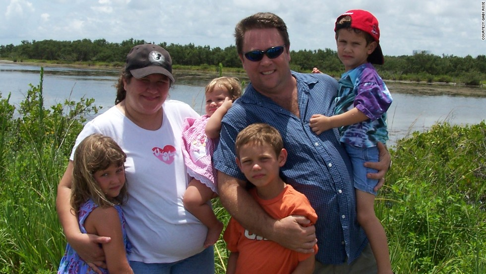 The whole family, from left: Rachel, Gabi, Sarah, David, Josh, in front, and Noah. In 2005, Gabi Rose faced a turning point; she decided to change her habits after suffering a near-fatal asthma attack.