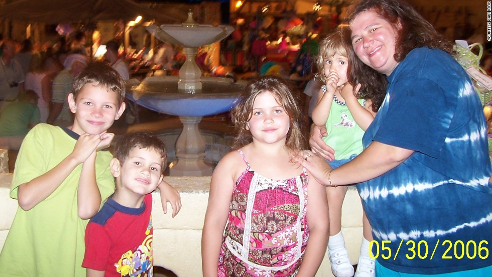 Rose visits Walt Disney World's Epcot Theme Park with her children in 2006. That year, she says, was when she fully began to understand the way she was supposed to eat.