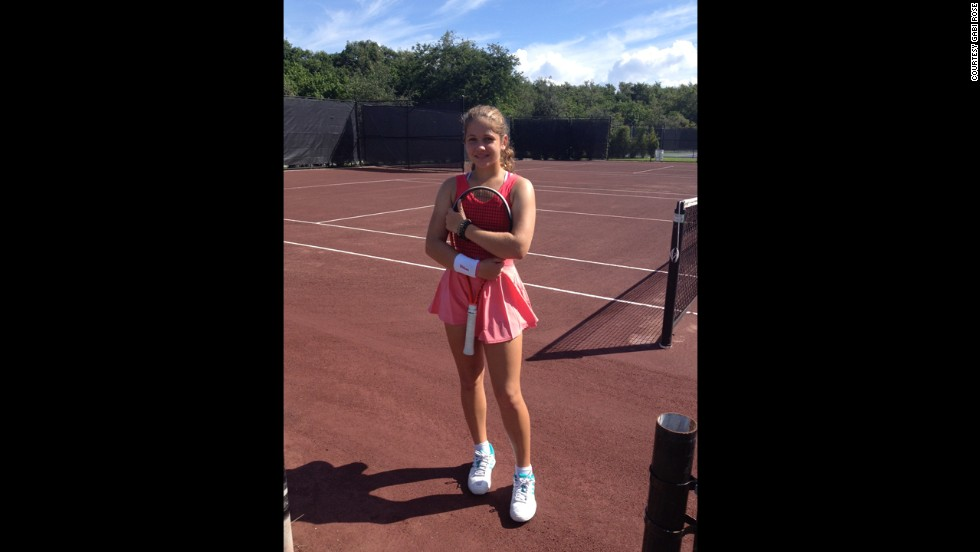 Rachel, 14, is an avid tennis player. She lost 50 pounds after her family started eating differently and exercising.