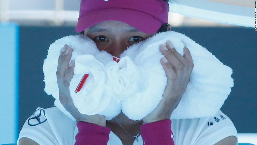 Li Na faced a battle to stay cool and to stay in the Australian Open against Lucie Safarova.