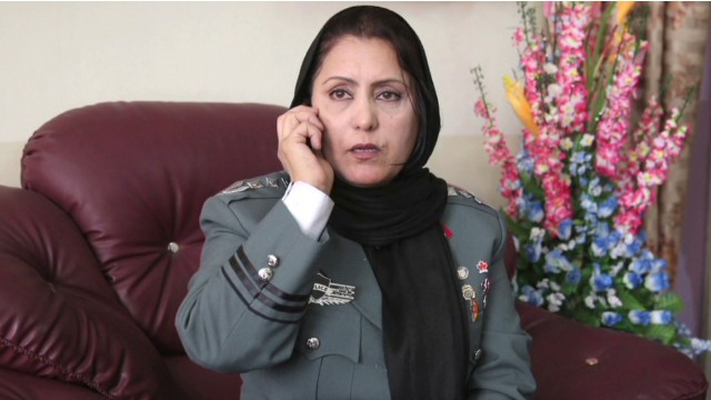 First female police chief in Afghanistan