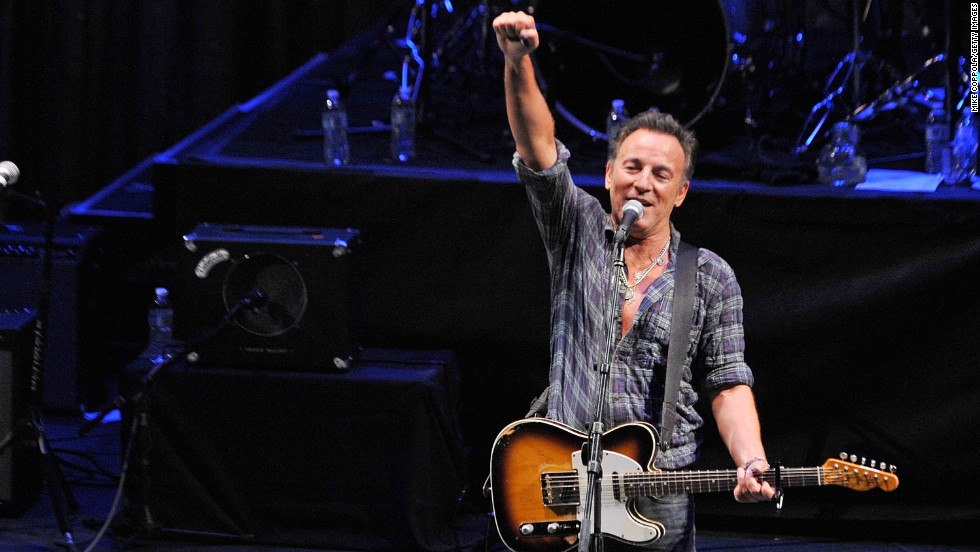 Singer/songwriter Bruce Springsteen, shown performing at the Paramount Theatre in 2012, got his start in Asbury Park. This once-faded beach resort has been brought back to life in recent years.
