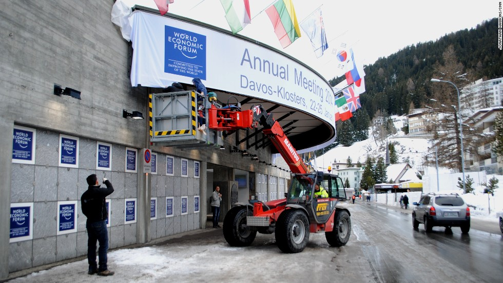 The World Economic Forum is setting up in the Swiss town of Davos, ready to open for the onslaught of world leaders and power players on January 22.