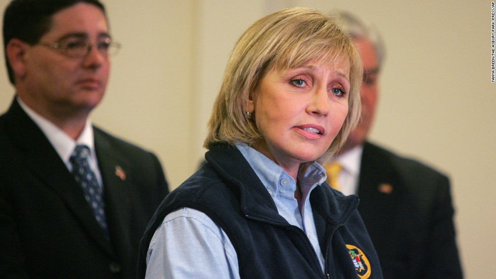 Lt. Gov. Kim Guadagno denies telling Hoboken Mayor Dawn Zimmer that her town's Superstorm Sandy relief money depended on her support for a redevelopment project proposed by a company with ties to Gov. Chris Christie that he had backed.