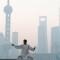 China bike smog shanghai
