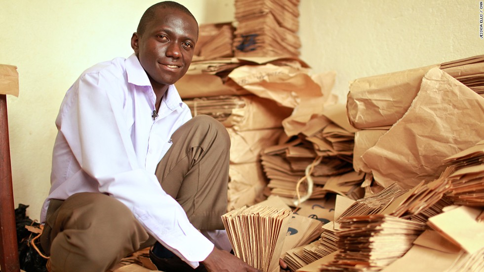 Andrew Mupuya is the founder of Uganda's first registered paper bag company. Youth Entrepreneurial Link Investments (YELI) is  supplying restaurants, supermarkets and medical centers in Kampala.