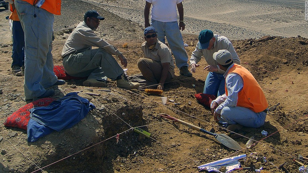 Kear, who has excavated in the region before, says he was following up a lead by oil geologists who stumbled upon an accumulation of fossils of giant marine reptiles.