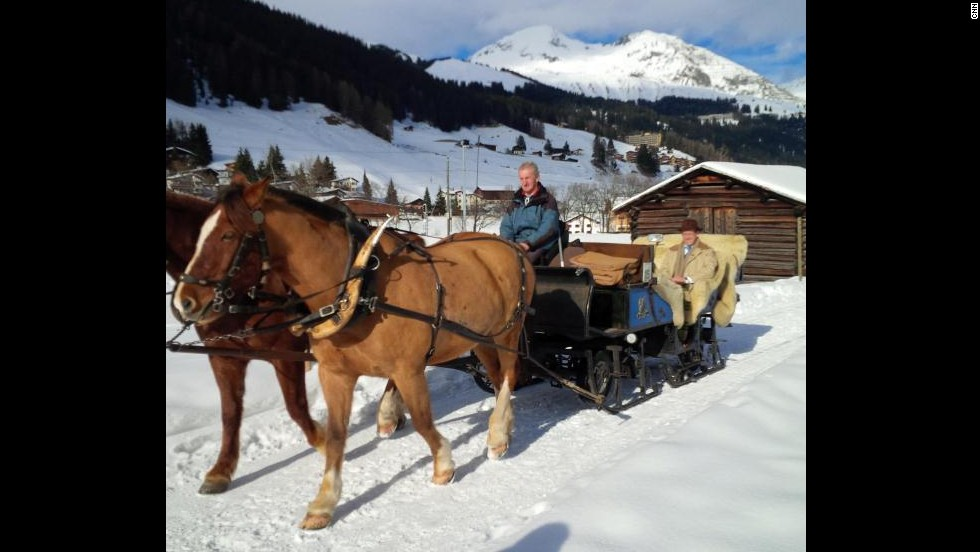 There are many things to enjoy in Davos. Richard Quest managed to escape the forum, enjoying the fresh Swiss air.