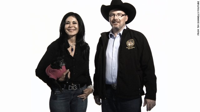 Maria Conchita Alonso and her dog join Tim Donnelly in an ad to support his campaign to become California governor.