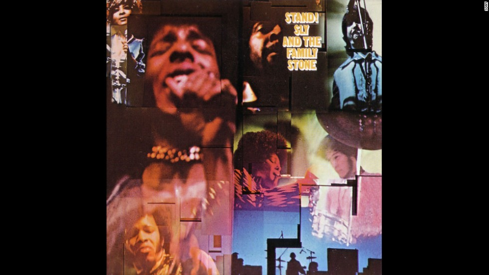 "Sly and the Family Stone was a unique mix of funk and rock, horns and guitars, white and black, male and female. ""Stand!"" (1969) was the group's breakthrough album, with both a No. 1 single (""Everyday People"") and extended jams (""Sex Machine""). Sadly, the band started falling apart not long after, and Sly Stone has been more in the news for his troubles than his talent. His 2006 appearance at a Grammy tribute was marked by him walking off the stage mid-performance."