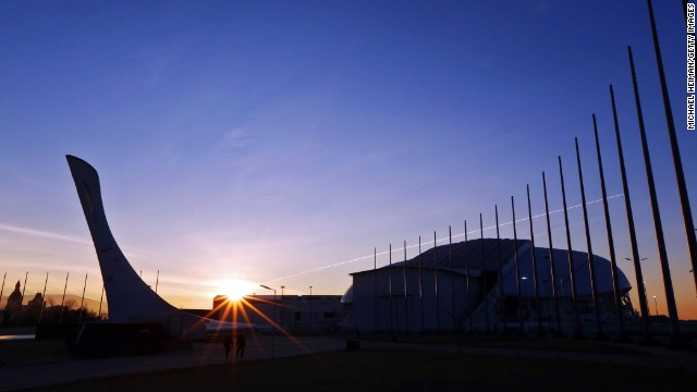 The sun rises over Sochi's Olympic Park on January 10, 2014. An estimated 3 billion people are expected to watch the Olympics on television.
