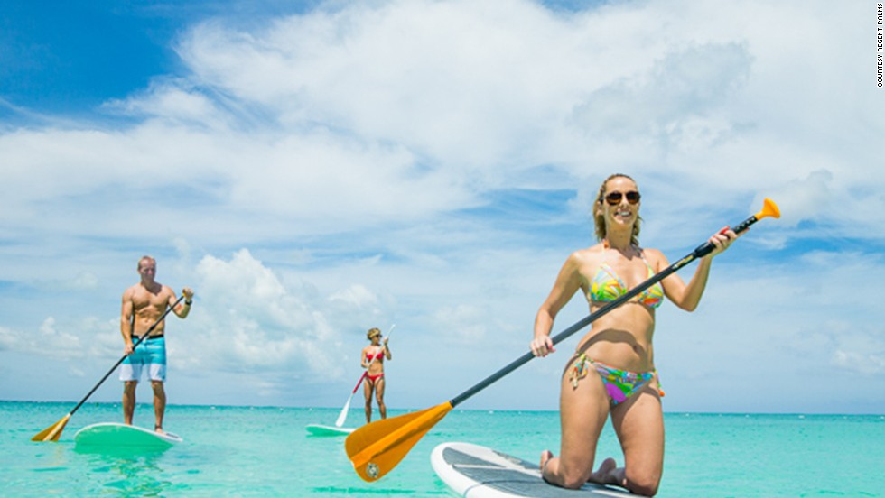 The all-suite hotel in Turks and Caicos offers sailing, paddle boarding and kayaking lessons included in the resort fee.
