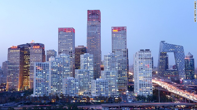 A general view shows the skyline of a central business district in Beijing on November 27, 2013. Foreign investment into China rose 5.77 percent on year in the first 10 months of 2013, the government said on November 19. AFP PHOTO / WANG ZHAOWANG ZHAO/AFP/Getty Images