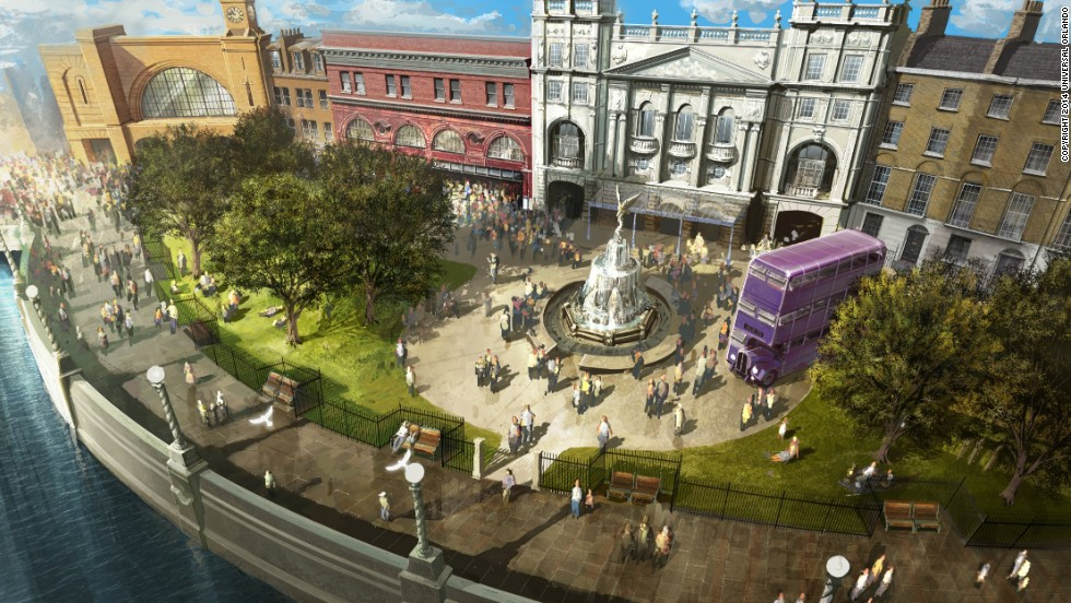 Diagon Alley will be fronted by a London facade and riverfront area.