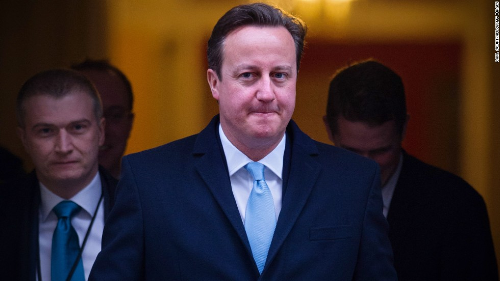 British Prime Minister David Cameron is also attending the conference.