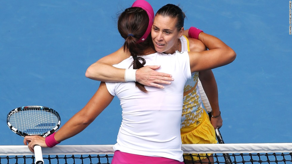 Li dismissed Italy's Flavia Pennetta in straight sets 6-2 6-2 in the quarterfinals.