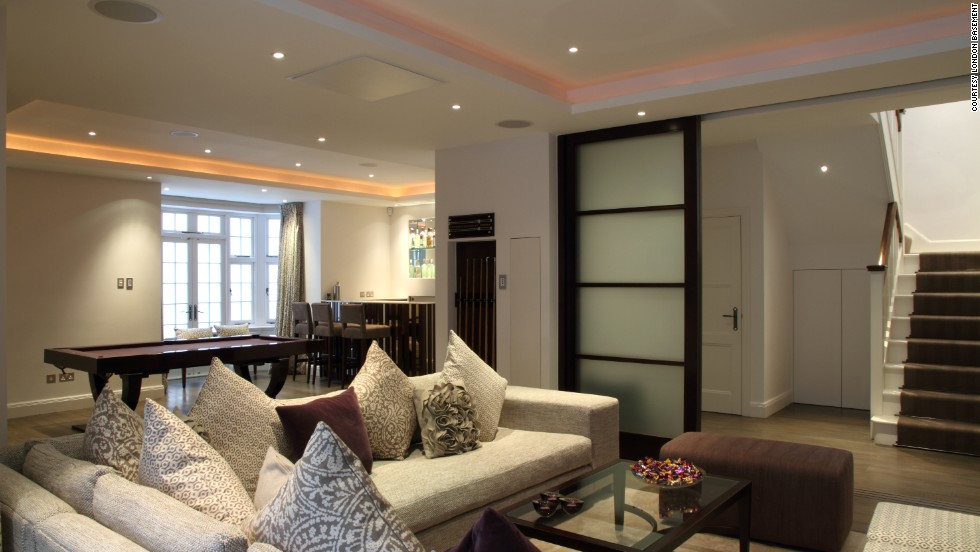 Best Londonus Amazing Luxury Basements Cnncom With Basement Living Room.