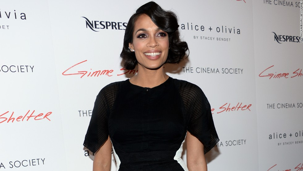 "Rosario Dawson shines at a screening for ""Gimme Shelter"" on January 22."