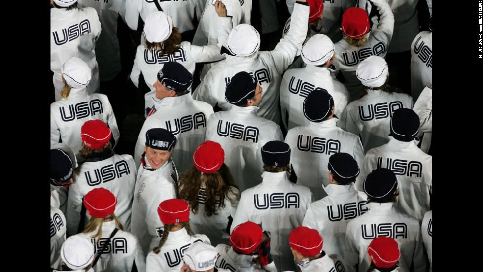 U.S. athletes at the 2006 Winter Olympics in Turin, Italy.