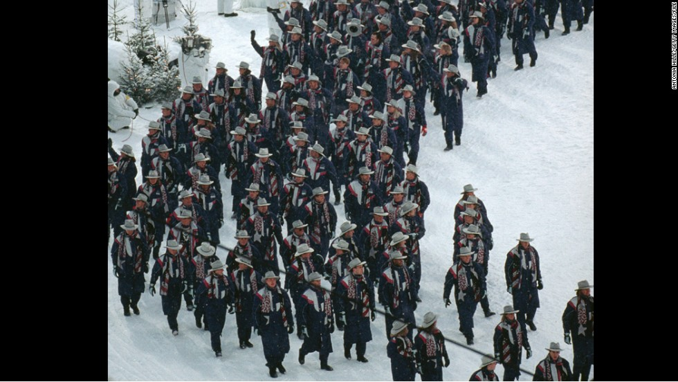U.S. athletes at the 1994 Winter Olympics in Lillehammer, Norway.